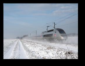 TGV sur LGV enneigée